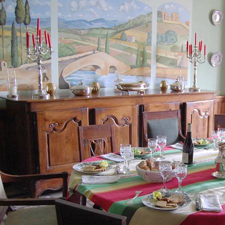 Vic-Fezensac - Gers 32 - tables hôtes - couverts